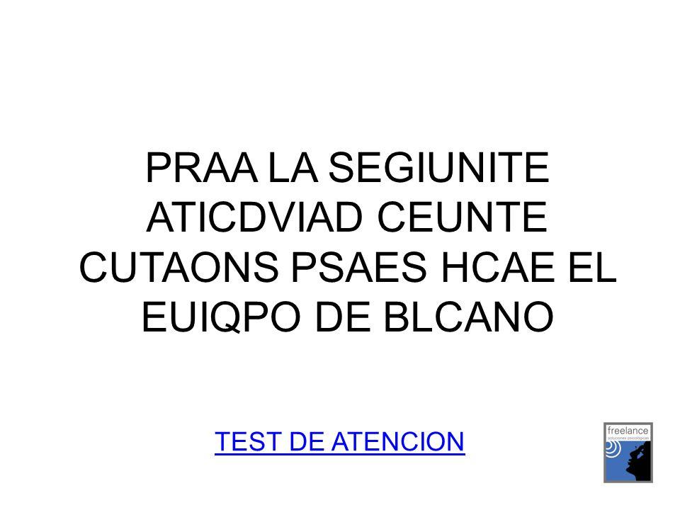 PRAA LA SEGIUNITE ATICDVIAD CEUNTE CUTAONS PSAES HCAE EL EUIQPO DE BLCANO