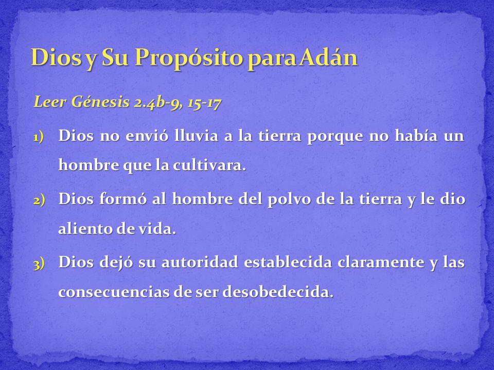 Dios y Su Propósito para Adán