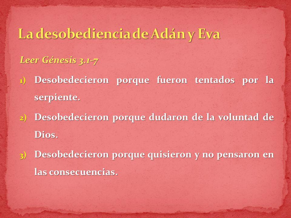 La desobediencia de Adán y Eva