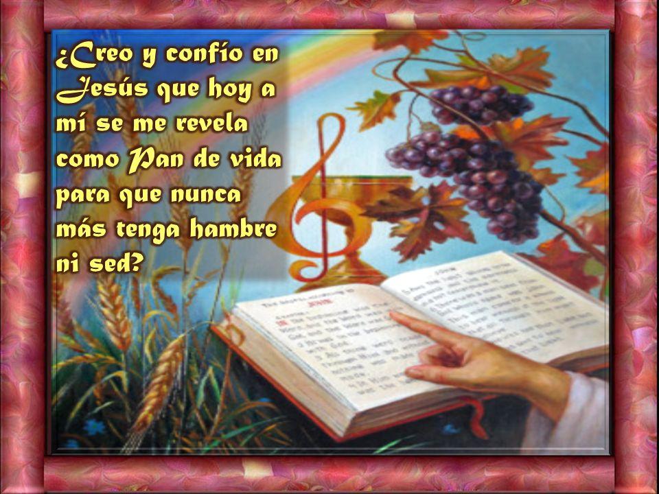 ¿Creo y confío en Jesús que hoy a mí se me revela como Pan de vida para que nunca más tenga hambre ni sed