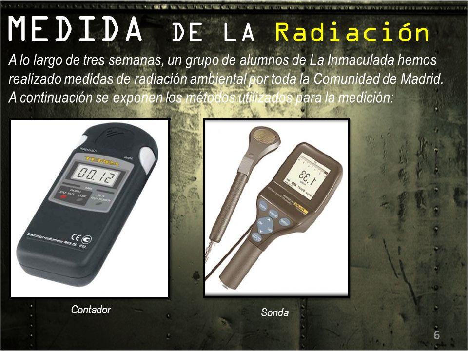 MEDIDA DE LA Radiación