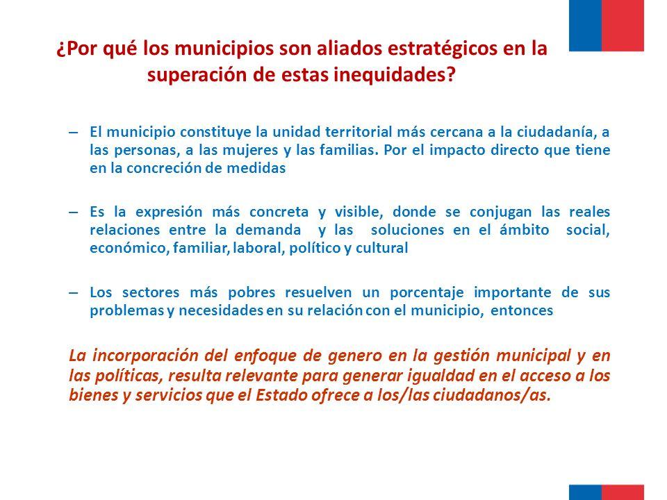 ¿Por qué los municipios son aliados estratégicos en la superación de estas inequidades