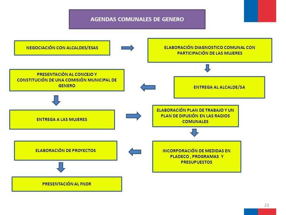 AGENDAS COMUNALES DE GENERO
