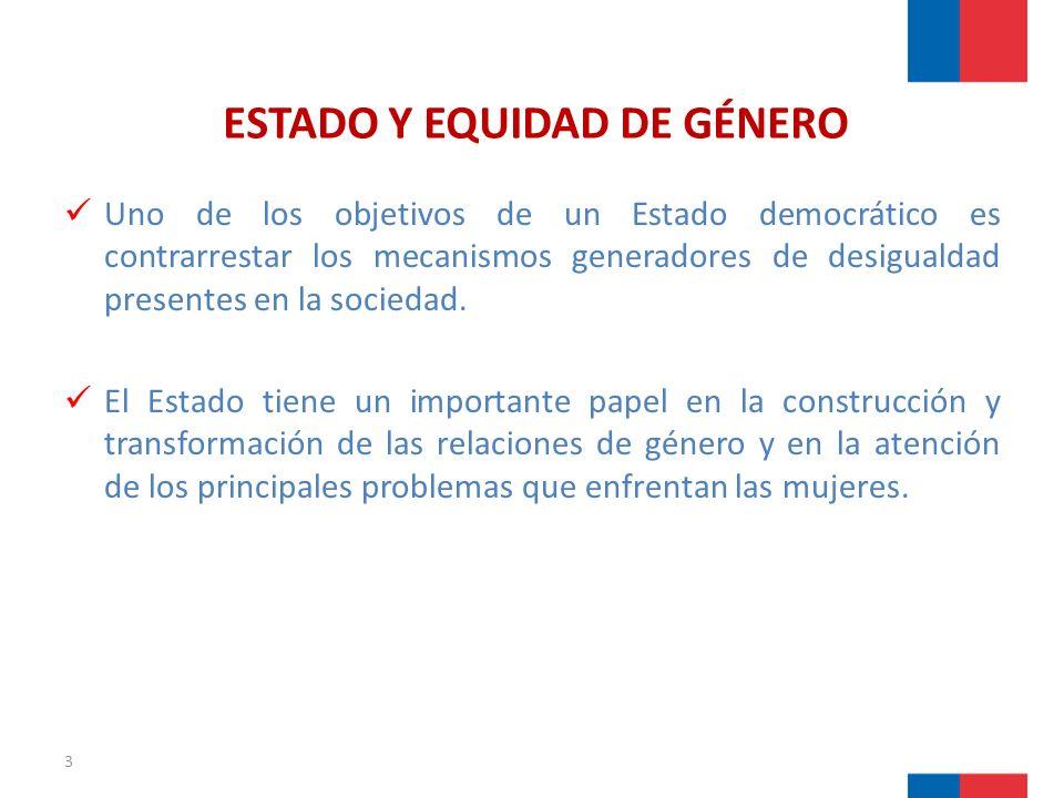 ESTADO Y EQUIDAD DE GÉNERO