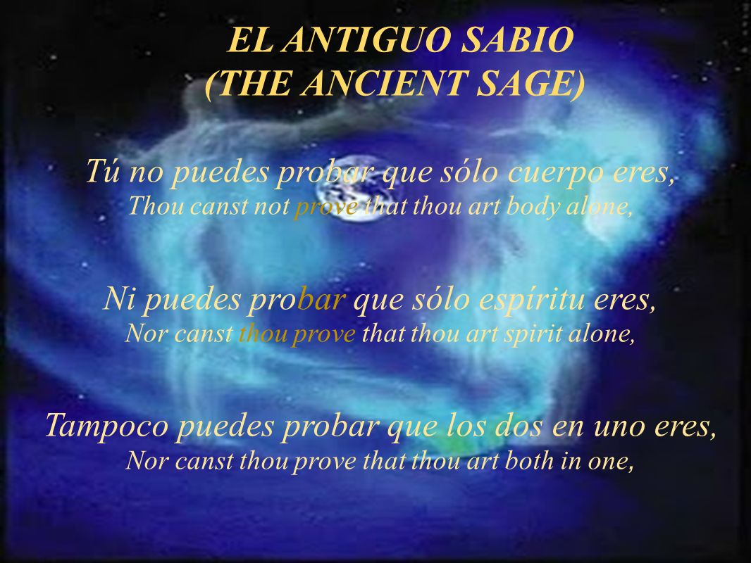 EL ANTIGUO SABIO (THE ANCIENT SAGE)