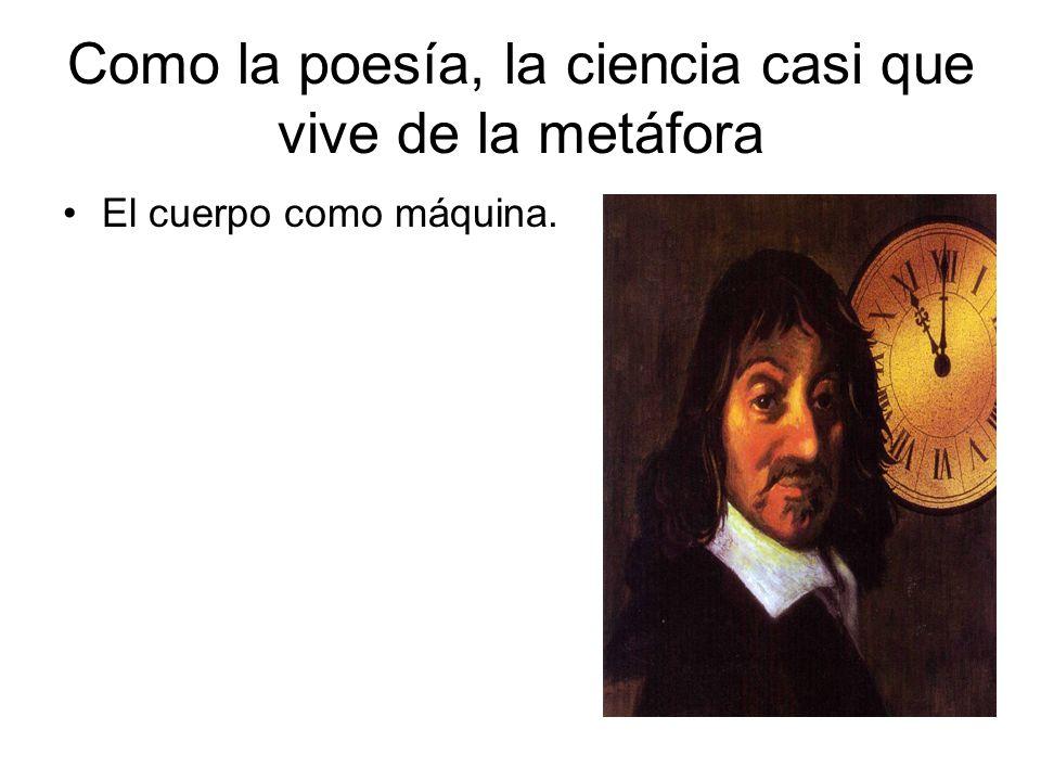 Como la poesía, la ciencia casi que vive de la metáfora