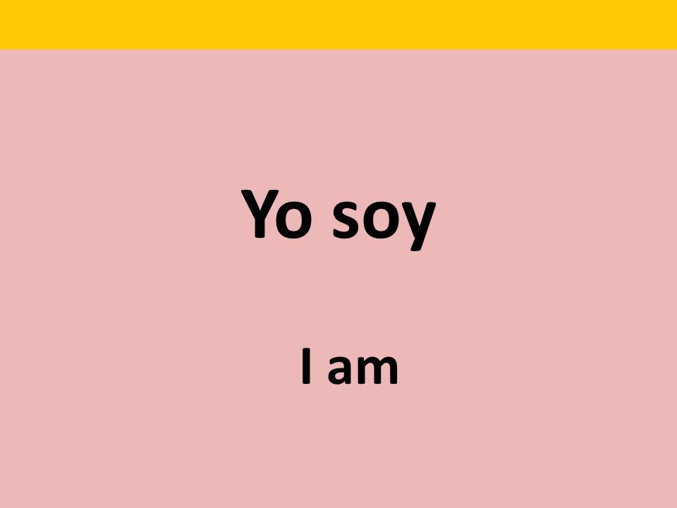 Yo soy I am