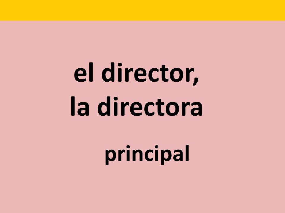 el director, la directora