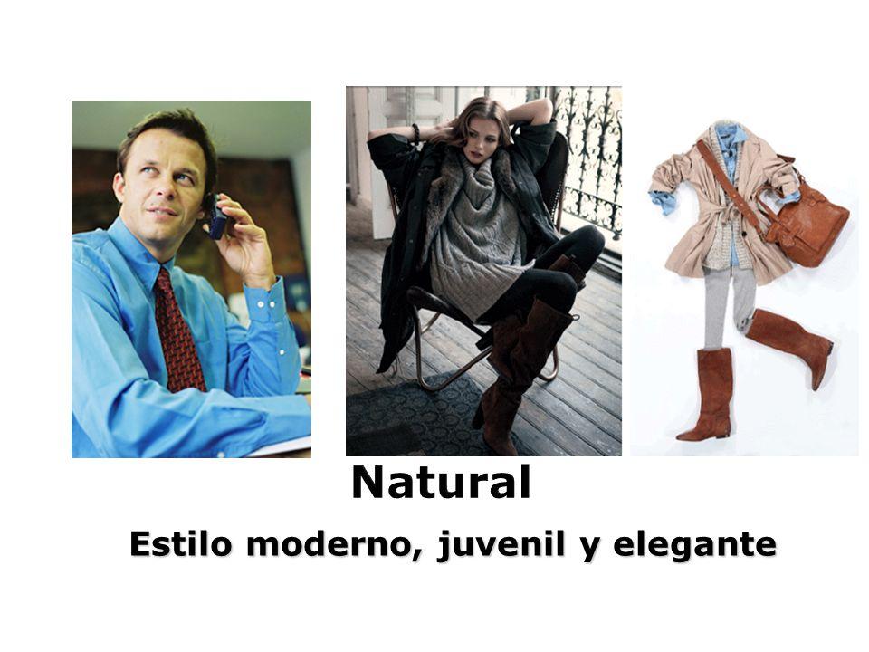 Estilo moderno, juvenil y elegante