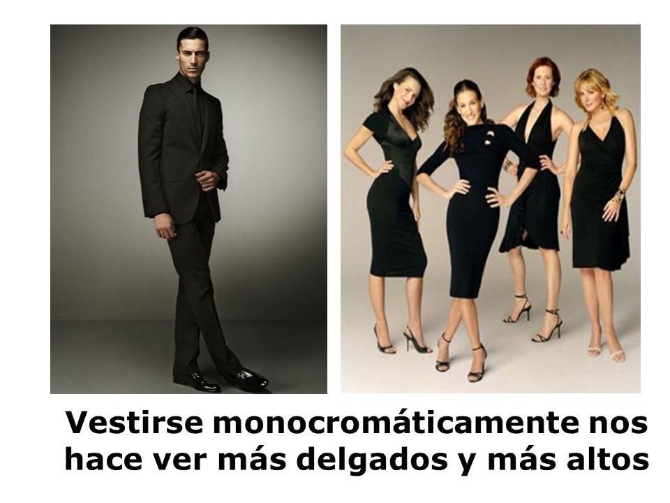 Vestirse monocromáticamente nos hace ver más delgados y más altos