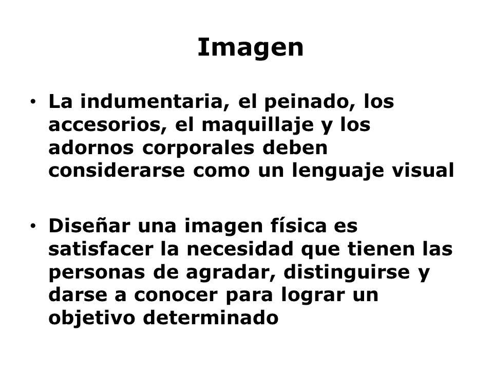 Imagen La indumentaria, el peinado, los accesorios, el maquillaje y los adornos corporales deben considerarse como un lenguaje visual.