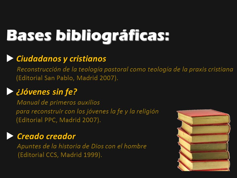 Bases bibliográficas: