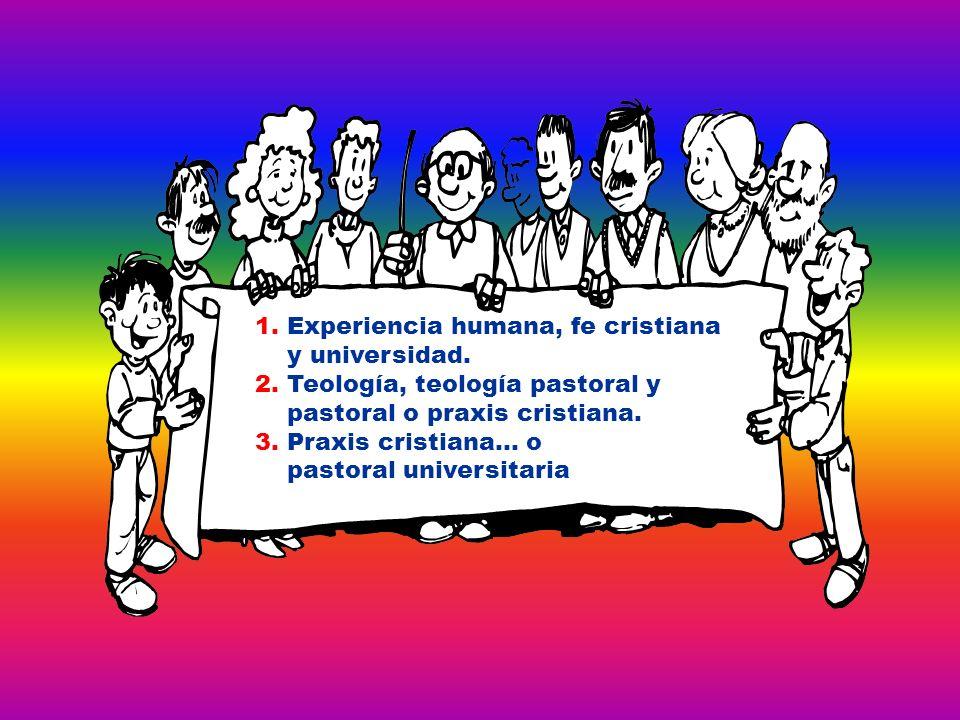 1. Experiencia humana, fe cristiana