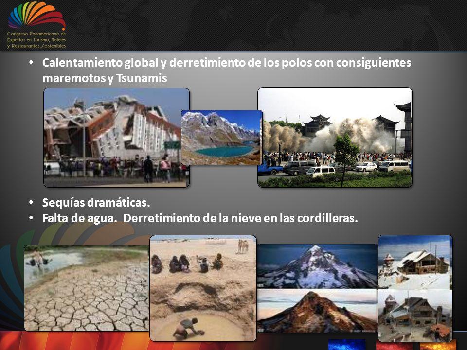 Calentamiento global y derretimiento de los polos con consiguientes maremotos y Tsunamis