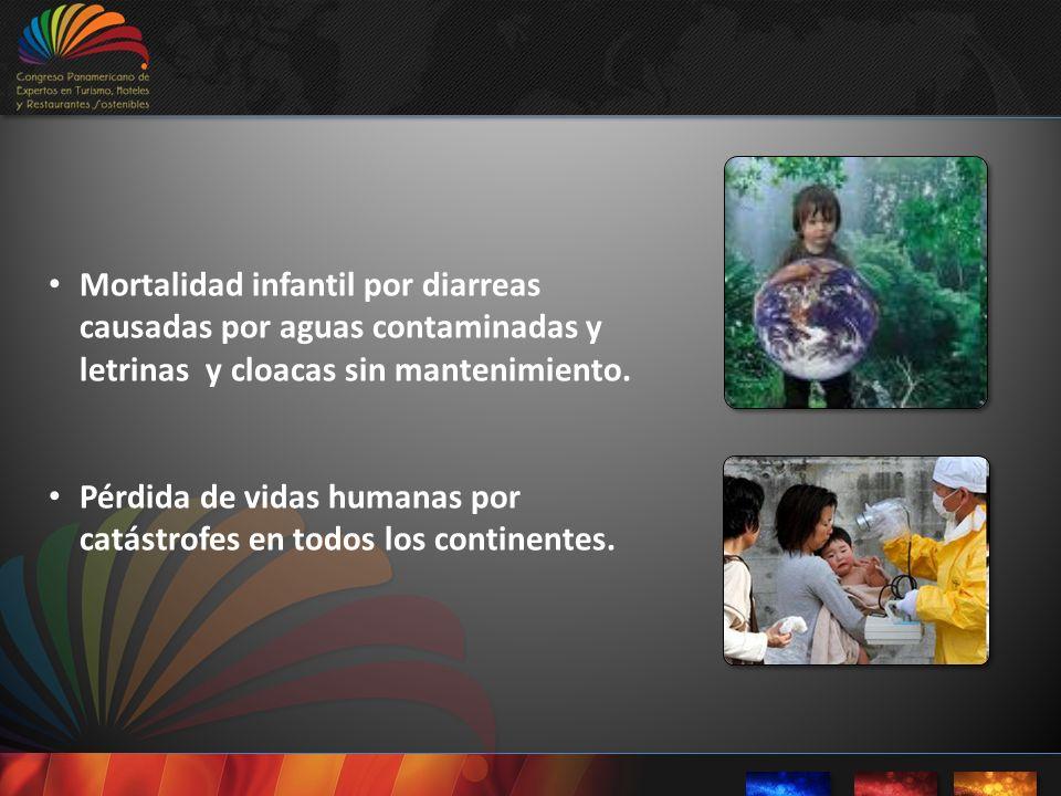 Mortalidad infantil por diarreas causadas por aguas contaminadas y letrinas y cloacas sin mantenimiento.