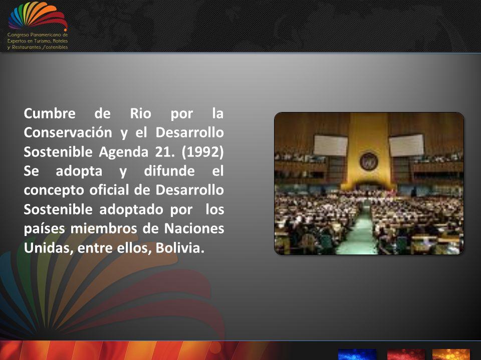 Cumbre de Rio por la Conservación y el Desarrollo Sostenible Agenda 21