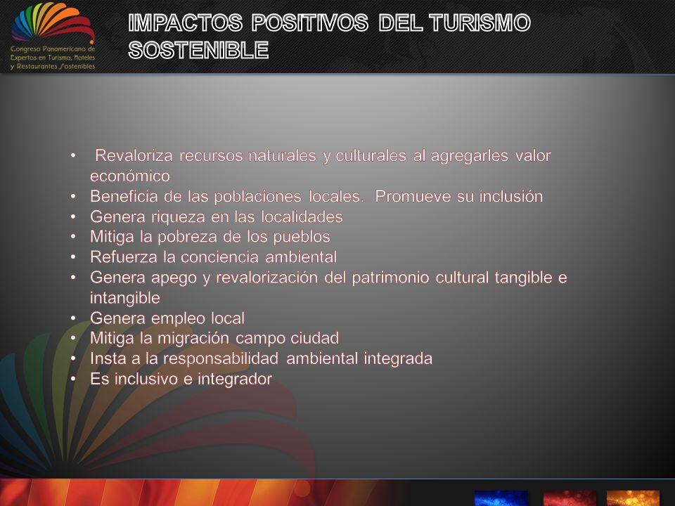 IMPACTOS POSITIVOS DEL TURISMO SOSTENIBLE