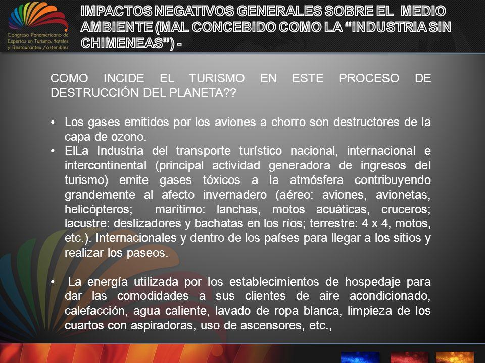 IMPACTOS NEGATIVOS GENERALES SOBRE EL MEDIO AMBIENTE (MAL CONCEBIDO COMO LA INDUSTRIA SIN CHIMENEAS ) -