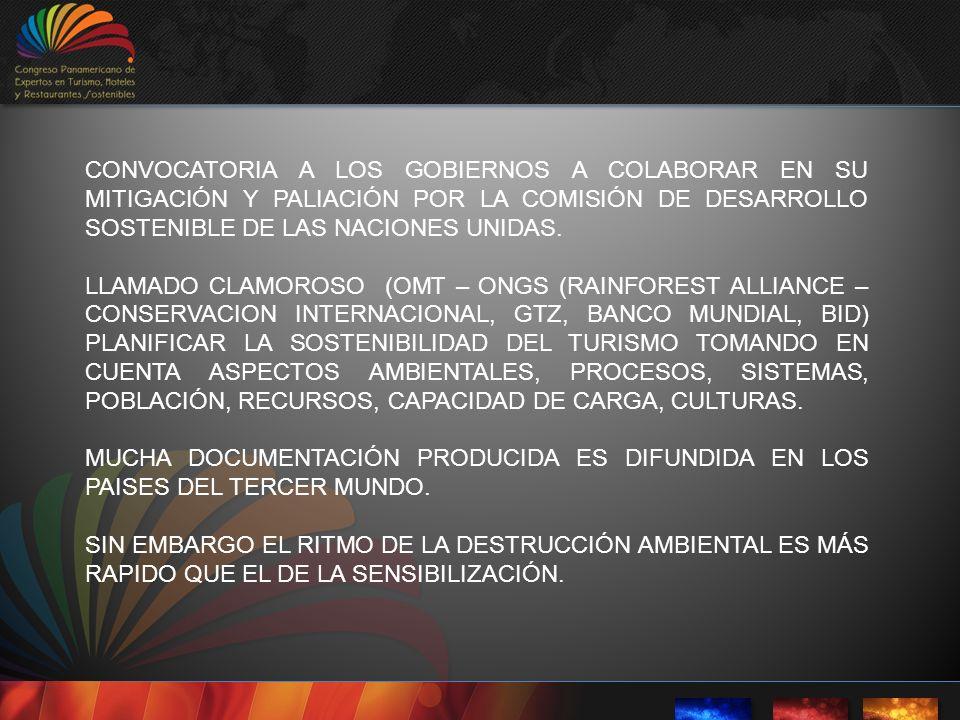 CONVOCATORIA A LOS GOBIERNOS A COLABORAR EN SU MITIGACIÓN Y PALIACIÓN POR LA COMISIÓN DE DESARROLLO SOSTENIBLE DE LAS NACIONES UNIDAS.