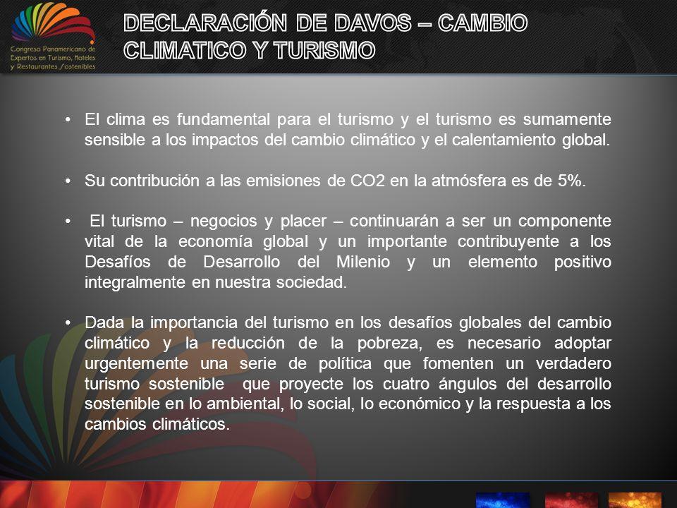 DECLARACIÓN DE DAVOS – CAMBIO CLIMATICO Y TURISMO