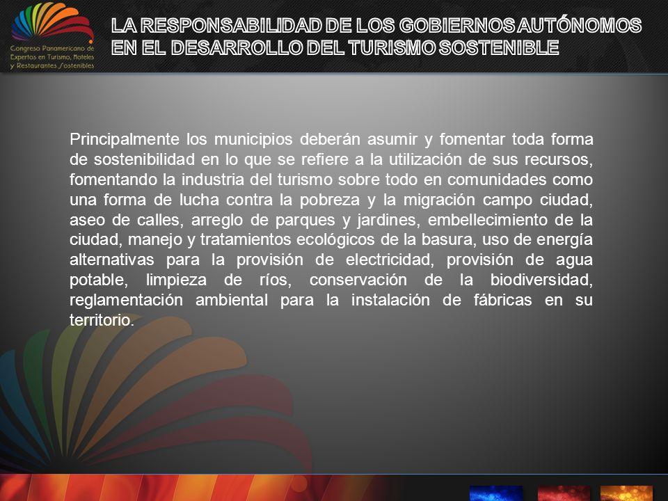 LA RESPONSABILIDAD DE LOS GOBIERNOS AUTÓNOMOS
