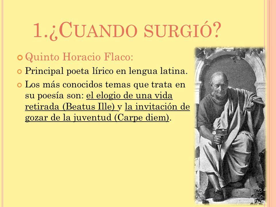 1.¿Cuando surgió Quinto Horacio Flaco: