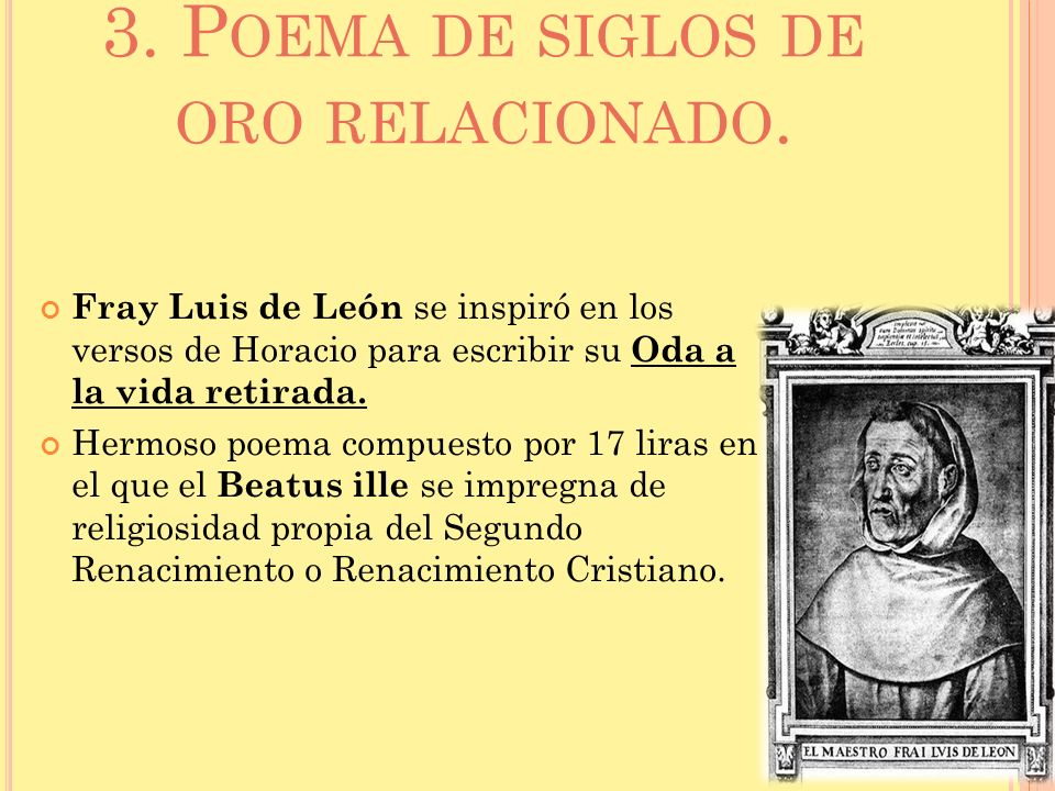 3. Poema de siglos de oro relacionado.