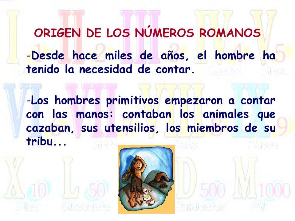 ORIGEN DE LOS NÚMEROS ROMANOS