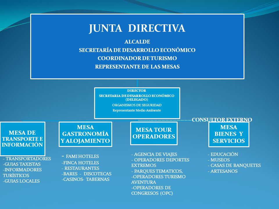 JUNTA DIRECTIVA - FAMI HOTELES MESA DE TRANSPORTE E INFORMACIÓN