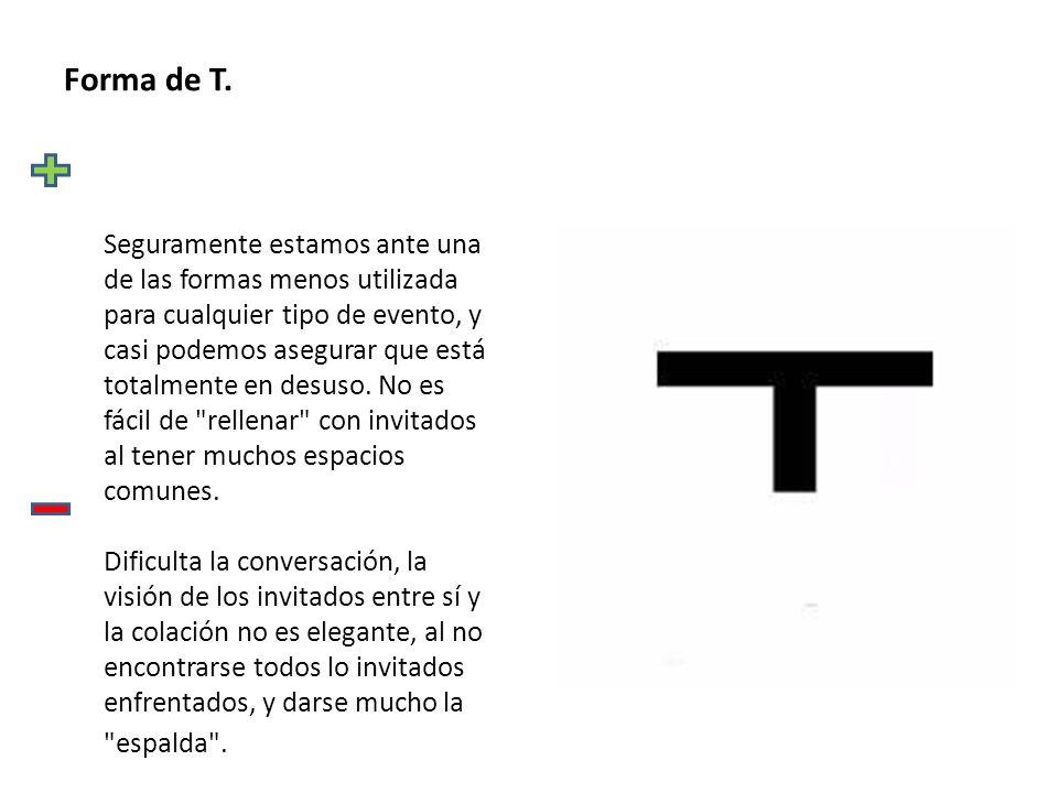 Forma de T.