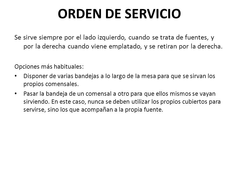 ORDEN DE SERVICIO