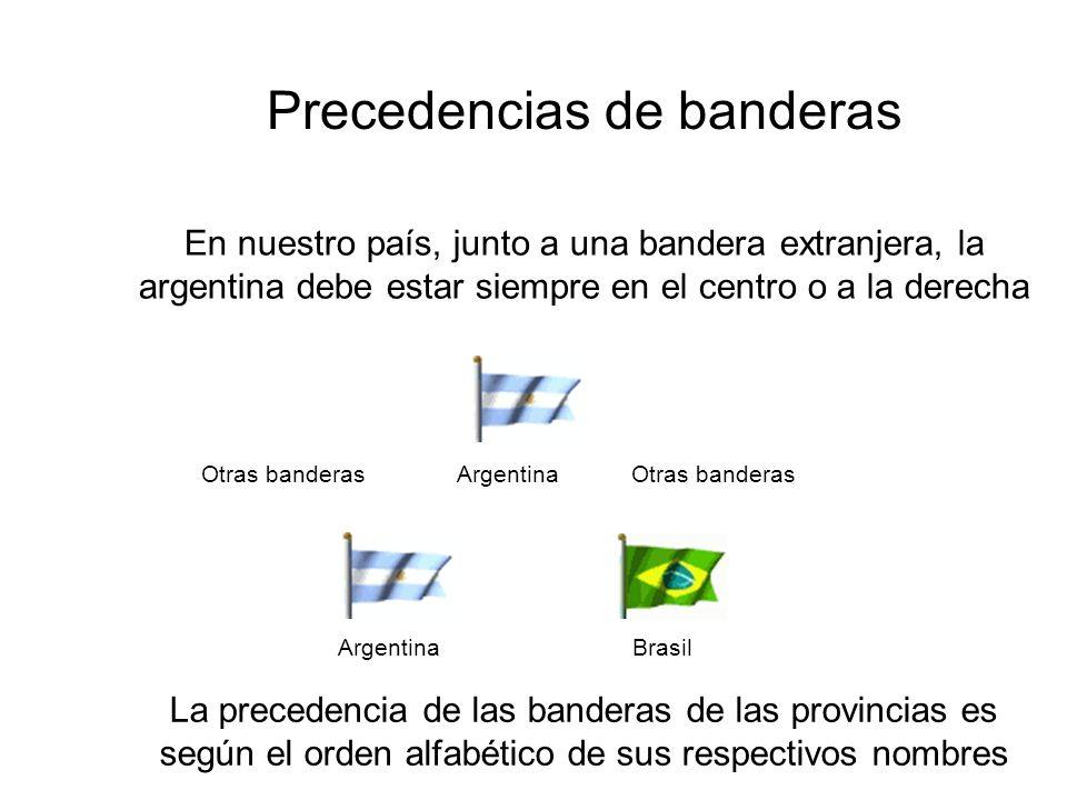 Precedencias de banderas