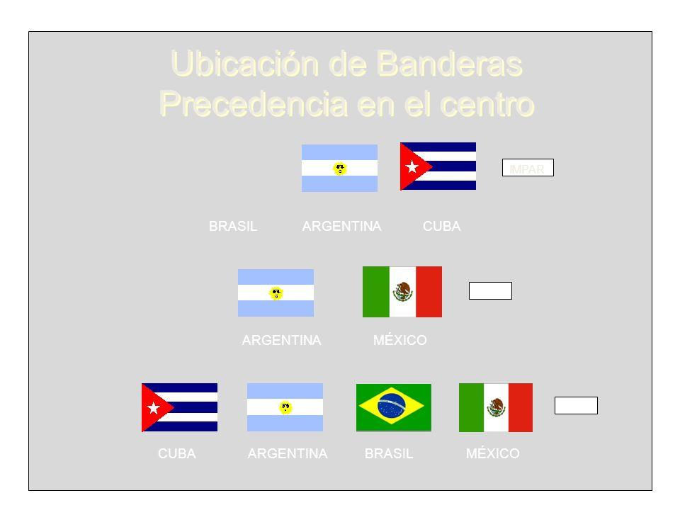 Ubicación de Banderas Precedencia en el centro