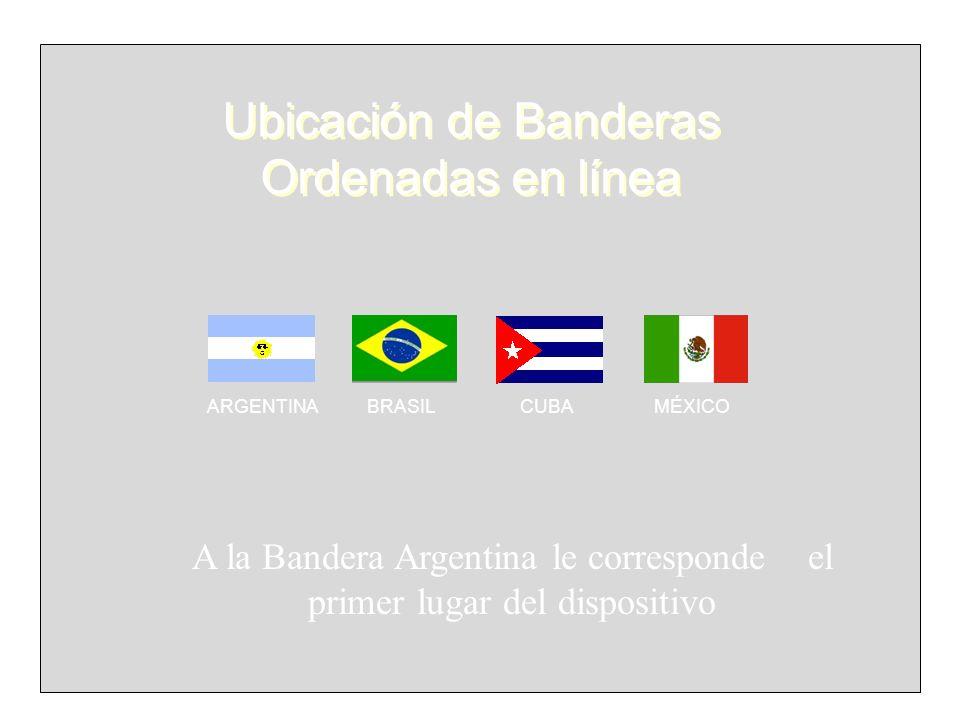 Ubicación de Banderas Ordenadas en línea
