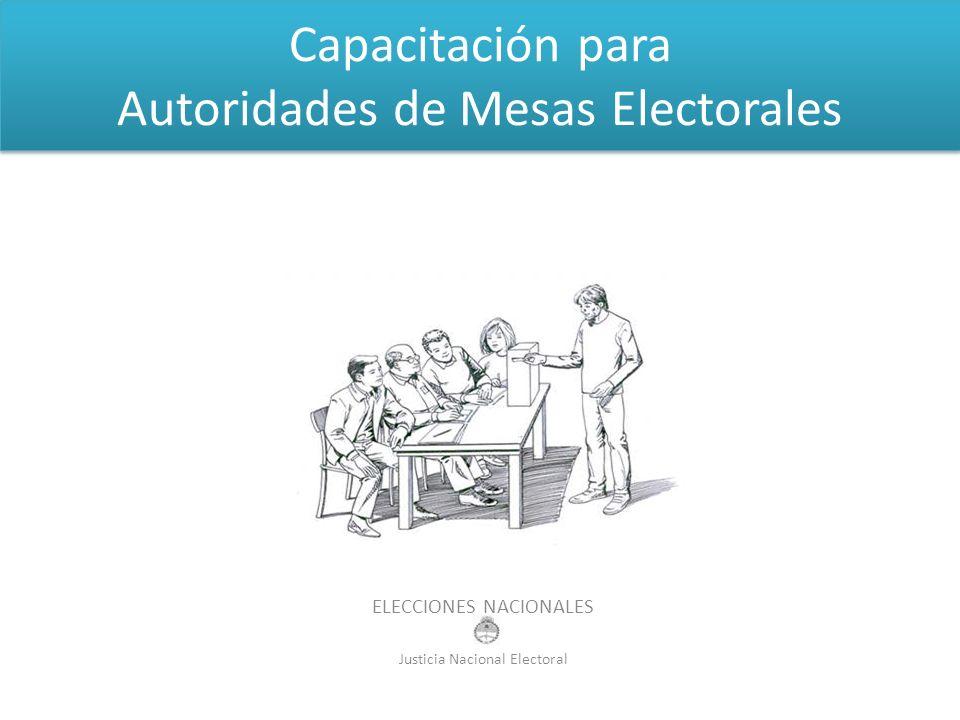 Capacitación para Autoridades de Mesas Electorales