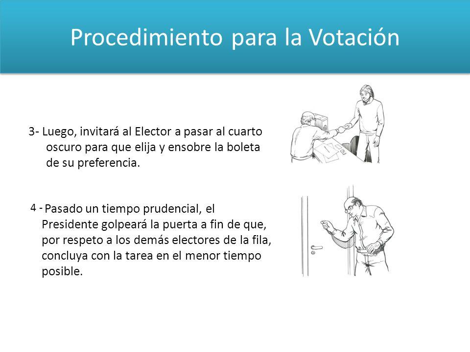 Procedimiento para la Votación