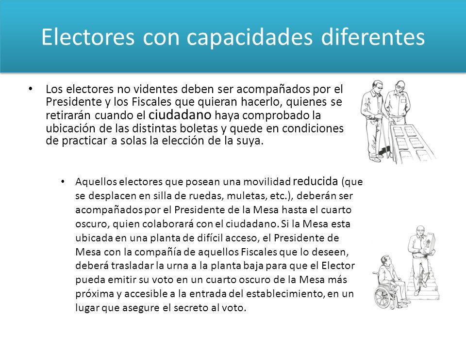 Electores con capacidades diferentes