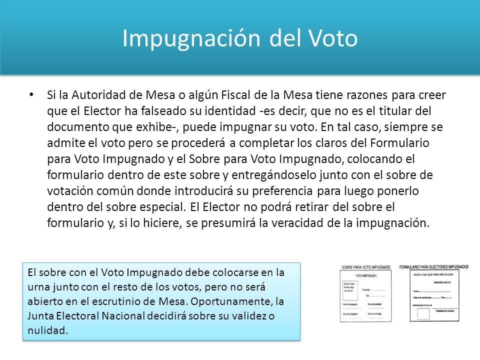 Impugnación del Voto