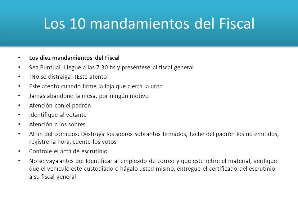 Los 10 mandamientos del Fiscal