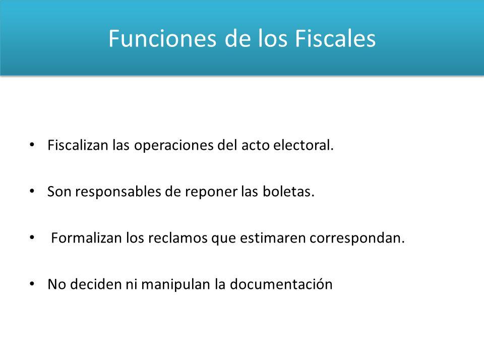 Funciones de los Fiscales