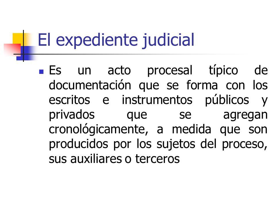 El expediente judicial