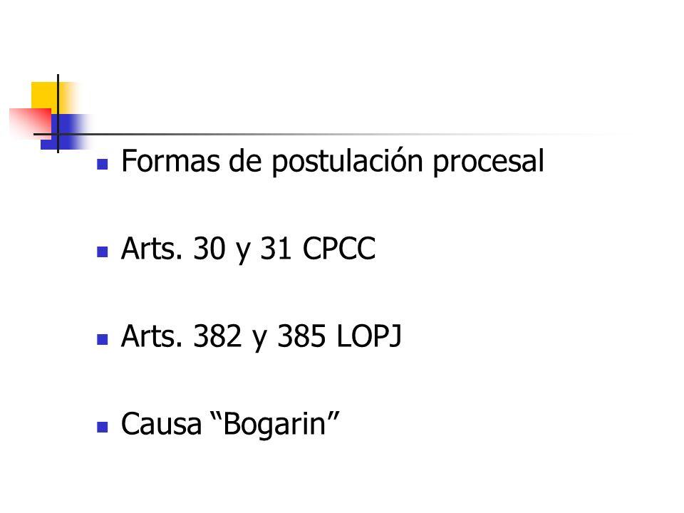 Formas de postulación procesal