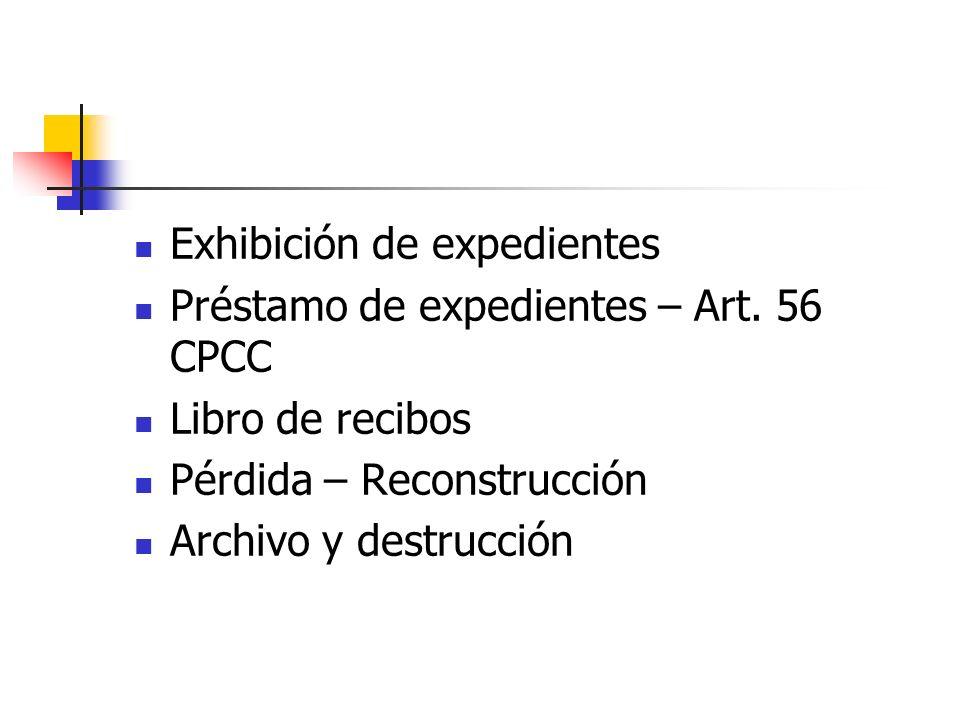 Exhibición de expedientes