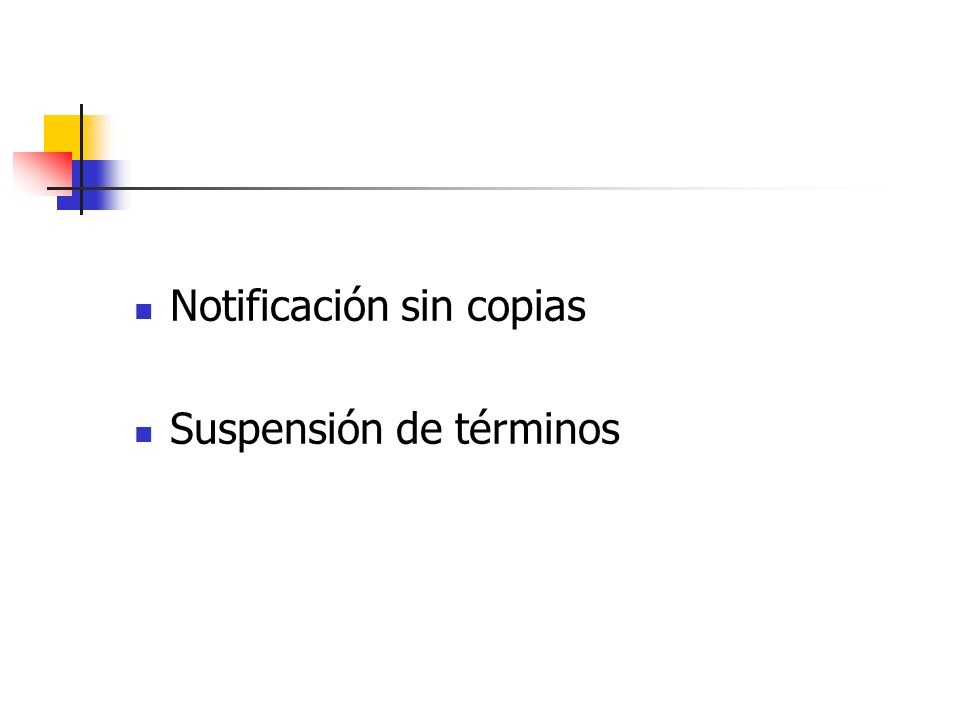 Notificación sin copias