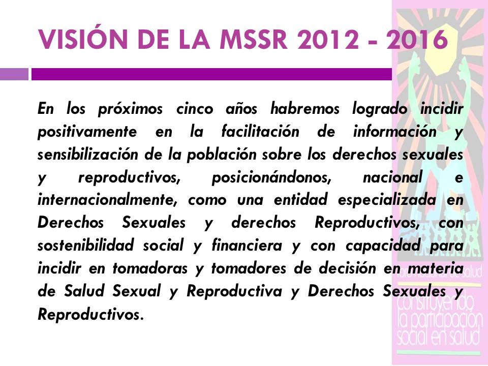 VISIÓN DE LA MSSR 2012 - 2016