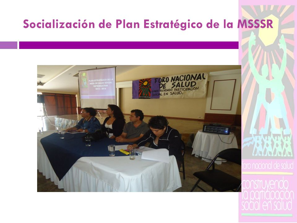 Socialización de Plan Estratégico de la MSSSR
