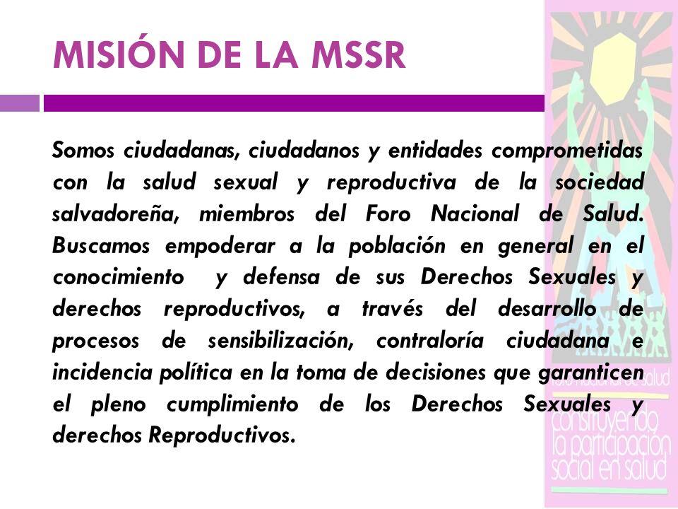 MISIÓN DE LA MSSR