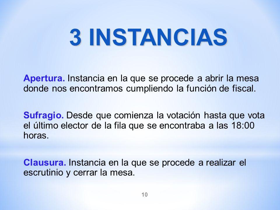 3 INSTANCIAS