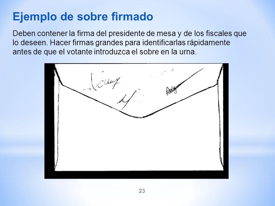 Ejemplo de sobre firmado