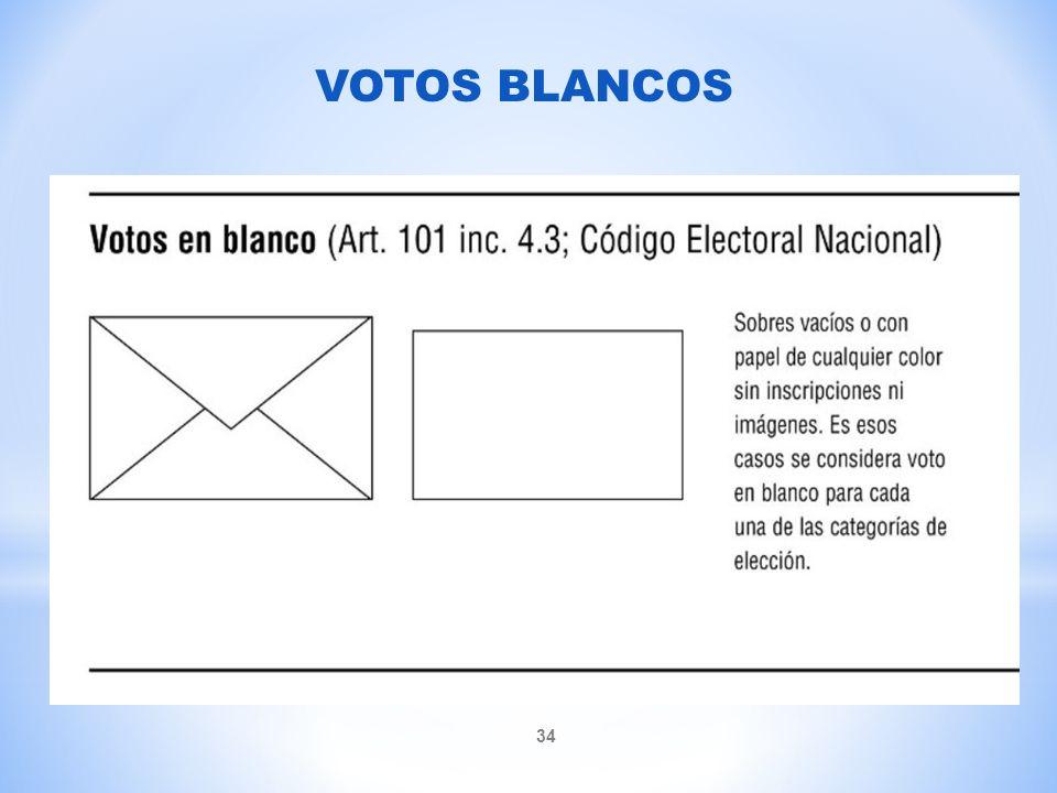 VOTOS BLANCOS
